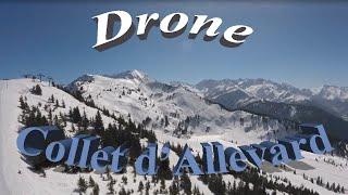 Le collet d'allevard -  Drone vidéo - Hiver 2016 ski
