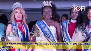 LIVE FROM THE AIRPORT WITH MISS COMMONWEALTH 2017 WINNER