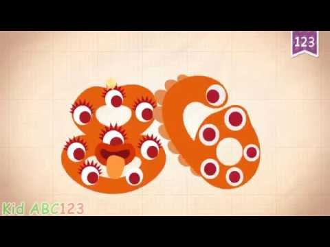 Endless Numbers counting 85 to 90   Learn 123 Number for Kids