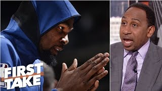 Warriors are 'worried' Durant will leave in free agency - Stephen A. | First Take thumbnail