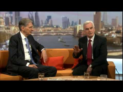 John McDonnell and Philip Hammond share sofa on Andrew Marr