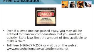 Mesothelioma Lawyer Brandenton Florida 1-866-777-2557 Asbestos Lung Cancer Lawsuit FL