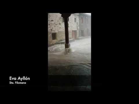 Así fue la tormenta en Villar del Río