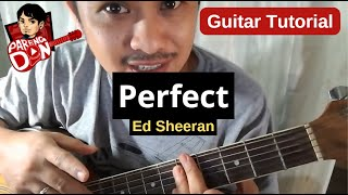 Guitar tutorial of PERFECT (Ed Sheeran ) Chords Strumming Lesson Tagalog