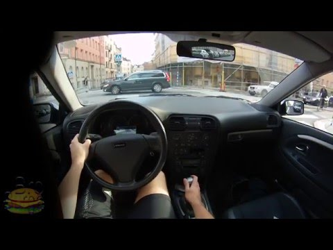 Volvo S40 Classic - Driving in Stockholm City. POV, First Pe