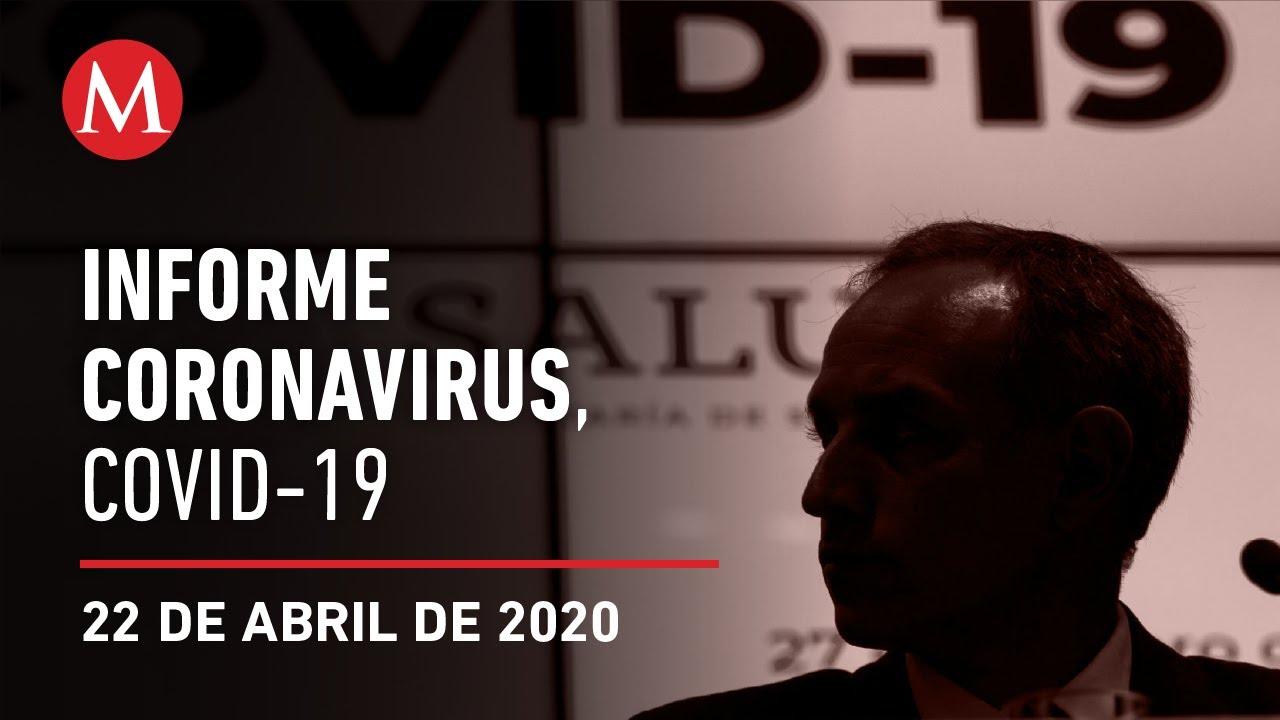Informe diario por coronavirus en México, 22 de abril de 2020