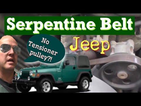 Changing Serpentine Belt Jeep 1995 - 2002 Wrangler - YouTube