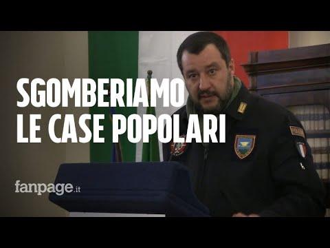 """Salvini ad Afragola dopo le bombe: """"Bisogna sgomberare le case occupate"""""""