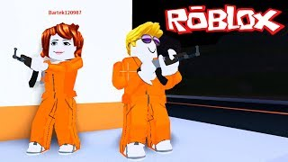 ESCAPE FROM PRISON! ROBLOX-JAILBREAK with Bartek! Police officers and thieves! #01