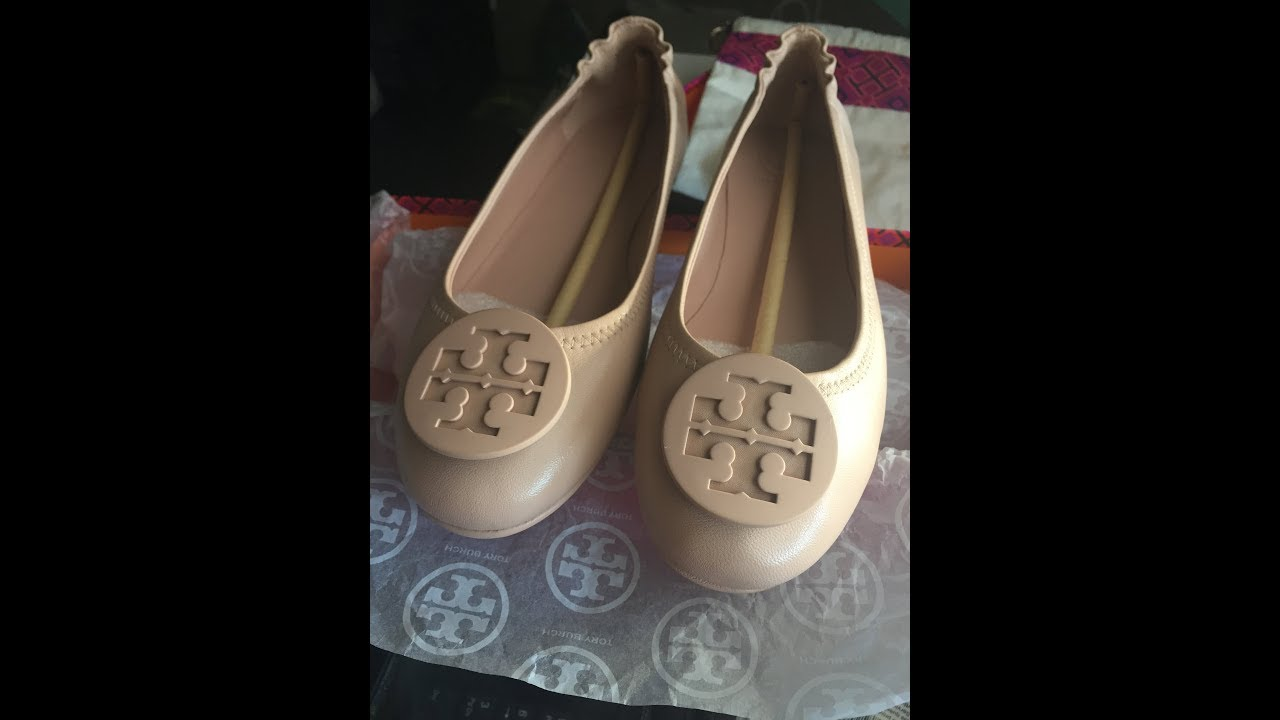 92dd35884 Unboxing Tory Burch s Goan Sand Minnie Ballet Flats - YouTube