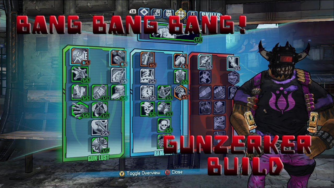 Borderlands 2 Level 61 Gunzerker Pistol Build *BANG BANG BANG!*