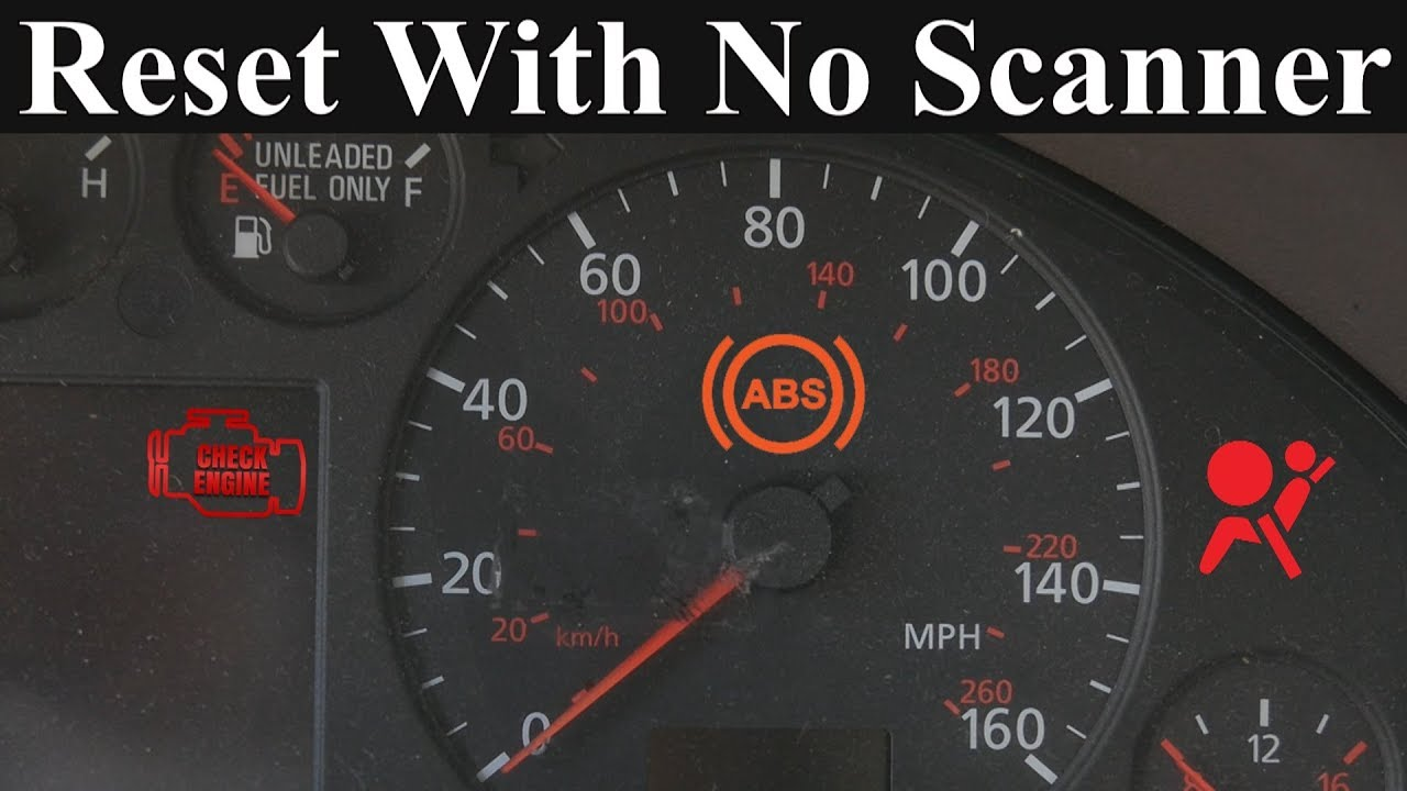 how to reset the check engine abs and airbag light without a scanner [ 1280 x 720 Pixel ]