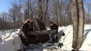 Поход в лес с палаткой и печкой(Наш суточный отдых в лесу. Поход 20 марта 2015 года. Ходили в лес вдвоем. Ночевали в палатке с печкой., 2015-05-05T14:29:30.000Z)