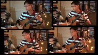 English Folk Song  |  Variations on Greensleeves (for guitar quartet by Ken Foo)