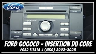 FORD 6000 CD Code unlock 🔓