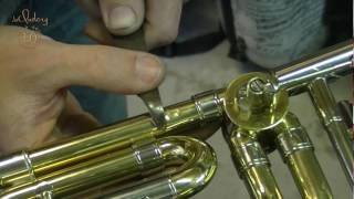 Brass instrument repair - Courtois Trombone dent repair