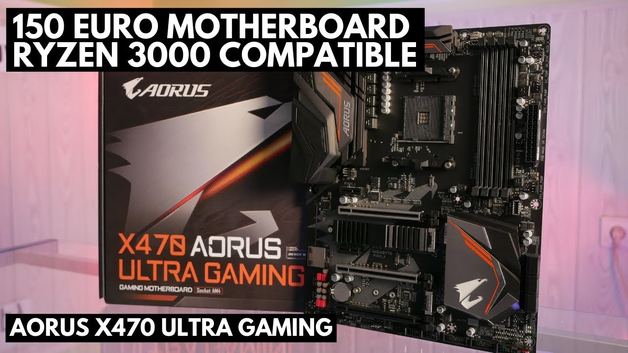 Gigabyte #Aorus #X470 Ultra Gaming Board under 150 Euros and Ryzen 3000  compatible [EN]