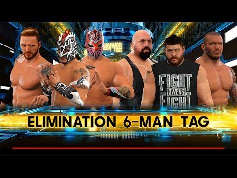 Kalisto & Sin Cara (Lucha Dragons) & Heath Slater VS. Big Show & Randy Orton & Kevin Owens
