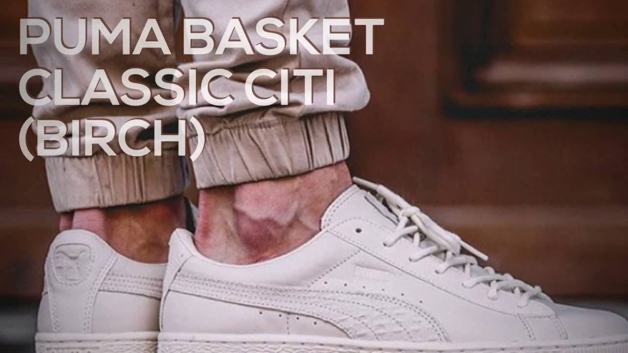 bf8d7c0b0390 PUMA BASKET CLASSIC CITI (BIRCH)   PEACE X9 - YouTube
