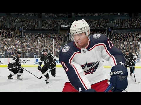 NHL 19 Gameplay Columbus Blue Jackets vs Los Angeles Kings (NHL 19 EA ACCESS)
