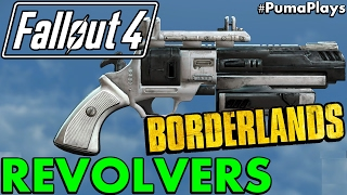 AMAZING BORDERLANDS MOD FOR FALLOUT 4! - BORDERLANDS 1 REVOLVER MOD (BL GUNS) #PumaPlays