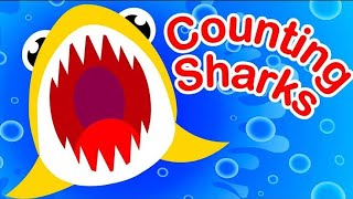 Learn colours, counting with baby shark cartoons for kids, preschoolers, toddlers and children