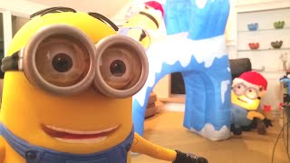 Minions Christmas Inflatable Hyper Dance Party Unboxing Review
