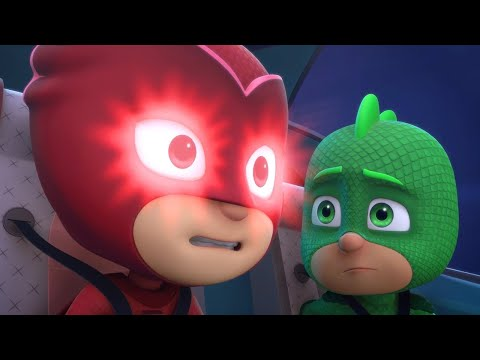 PJ Masks Full Episodes 1 & 2  - Blame it on the Train, Owlette / Catboy's Cloudy Crisis - Cartoons