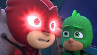 PJ Masks Full Episodes 1 & 2  - Blame it on the Train, Owlette / Catboy's Cloudy Crisis - Cartoons thumbnail
