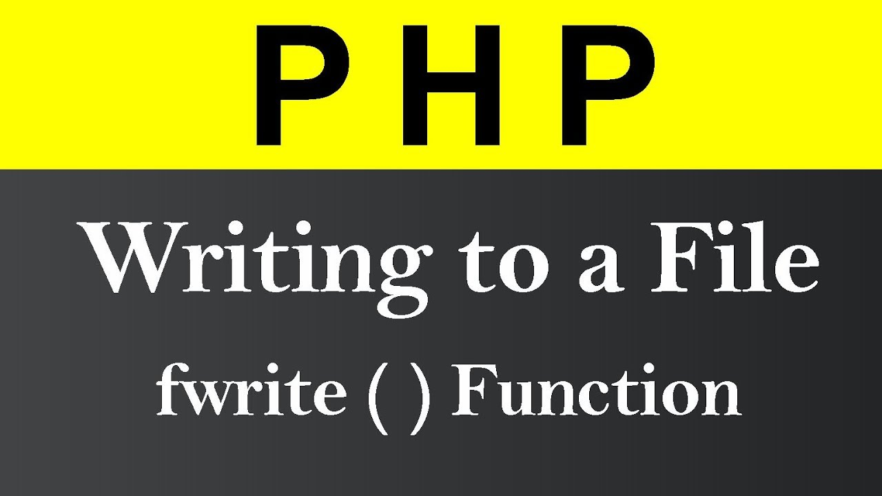 Writing to a File in PHP (Hindi)