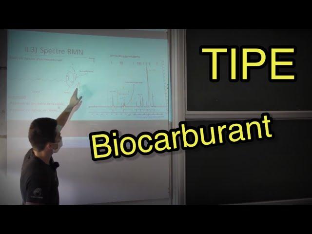 TIPE #5 : Biocarburant par Enzo Prissé