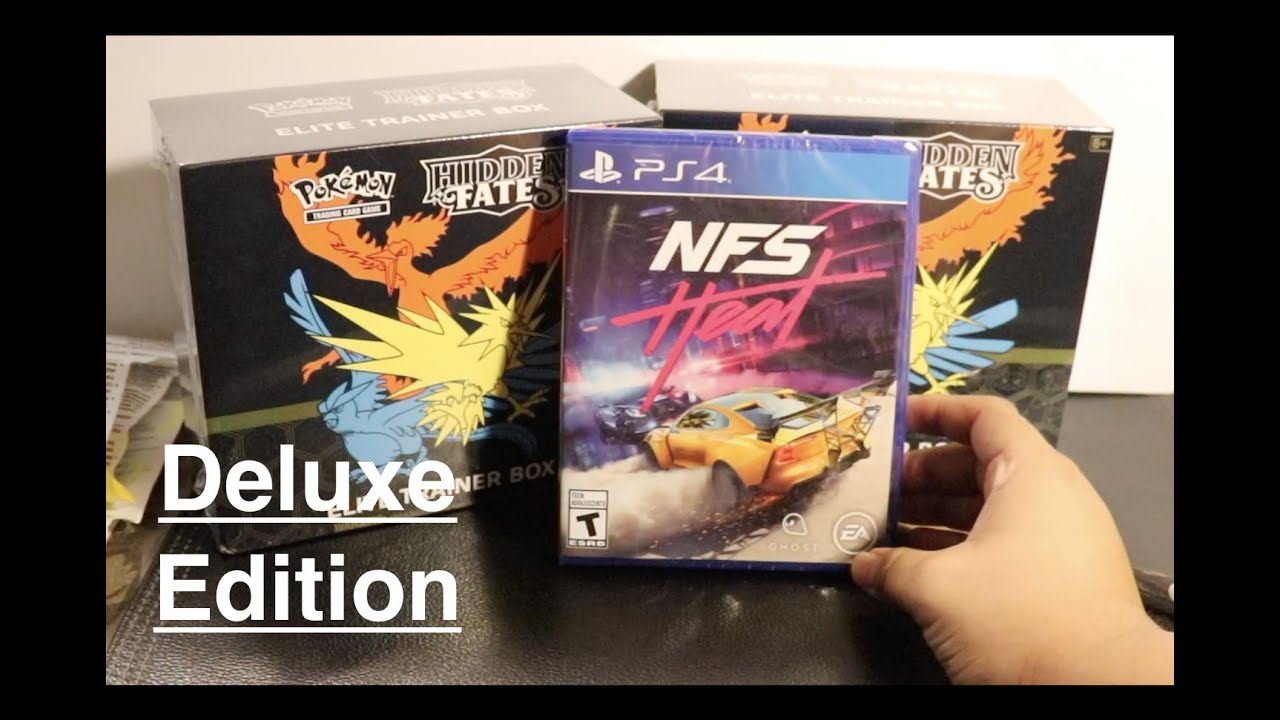 Need For Speed Heat Deluxe Edition Unboxing For PS4
