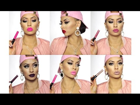 Barbie On A Budget: BH Cosmetics Liquid Lipsticks Swatches!