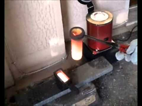 MELTING COPPER MINI MELTING ELECTRIC FURNACE Making Ingot From Scrap Copper