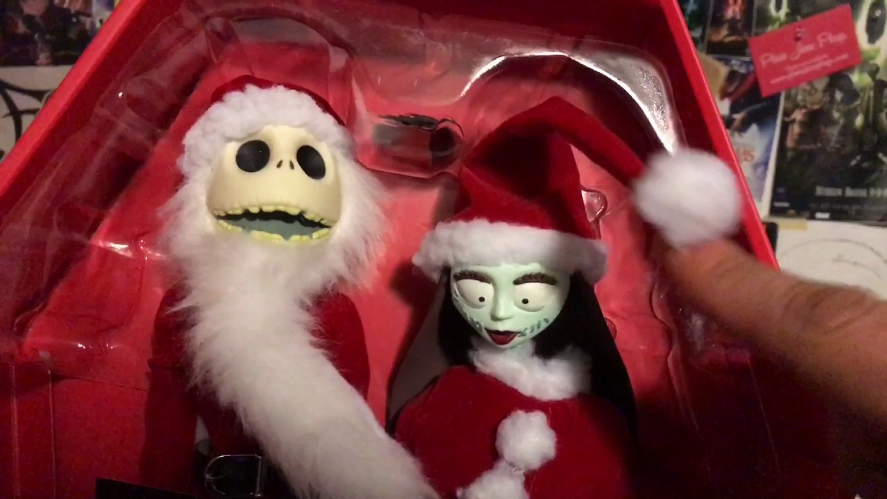 Santa Jack & Sally (The Nightmare Before Christmas) Figure Unboxing ...
