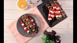 Шашлычки с кавказским сыром и помидорами