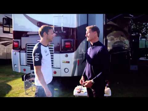 British BBQ with Jenson Button, David Coulthatd...and Nico Hulkenberg