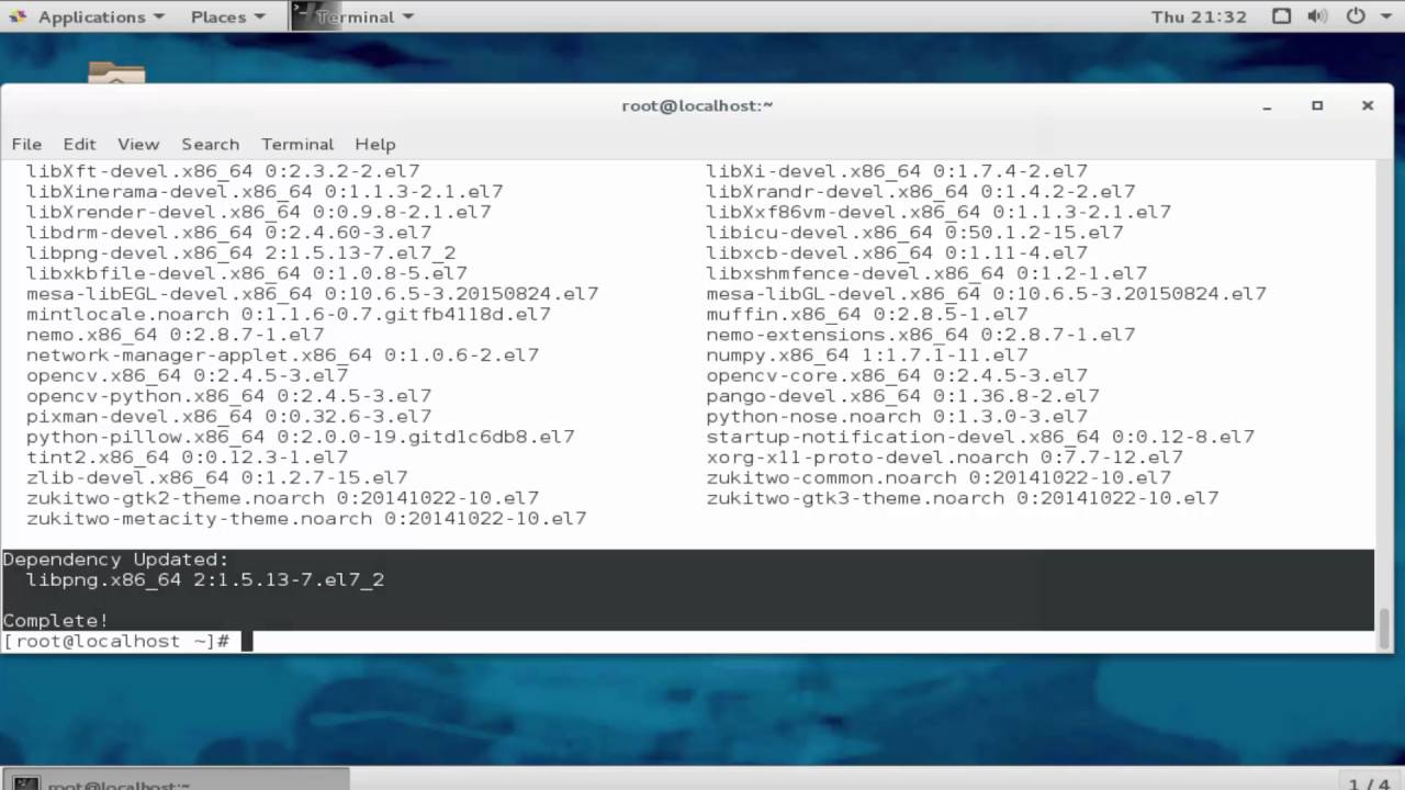 install Cinnamon Desktop Environment in centos 7