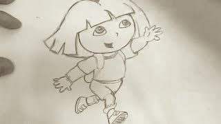 how to draw Dora the Explorer (first one)