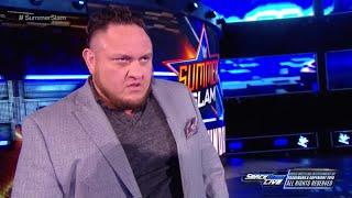 WWE Wal3ooha: ساموا جو يوجه كلام حاد لإي جي ستايلز