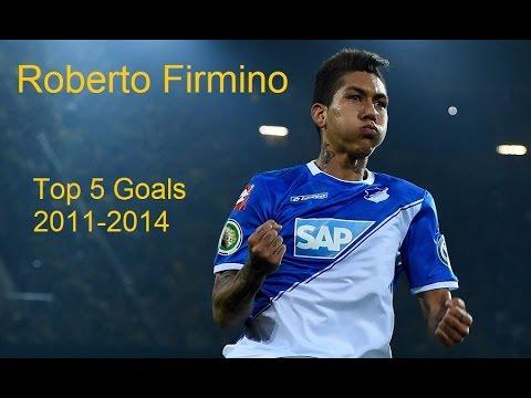 free shipping 17884 e3db2 Roberto Firmino | Top 5 Goals | 2011-2014