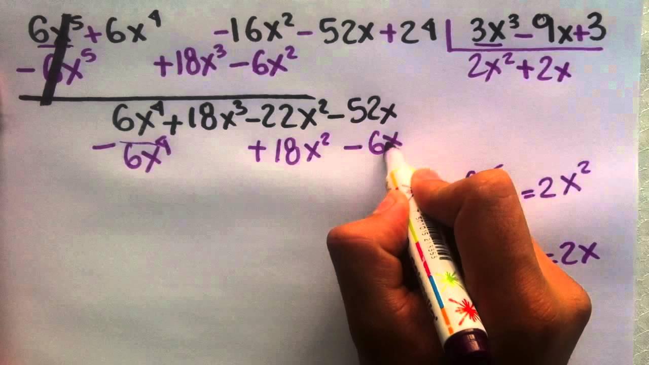 Divisi n de polinomios lecciones de matem ticas youtube for Lecciones de castorama de bricolaje