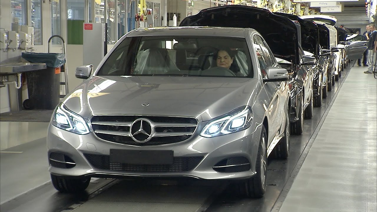 2014 mercedes e class production youtube for Mercedes benz training and education