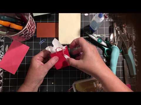 Tutorial little bags from envelopes.& mini shopping bag embellishment   dearjuliejulie