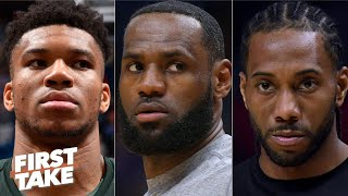First Take debates whether Giannis or Kawhi will be a tougher matchup for LeBron