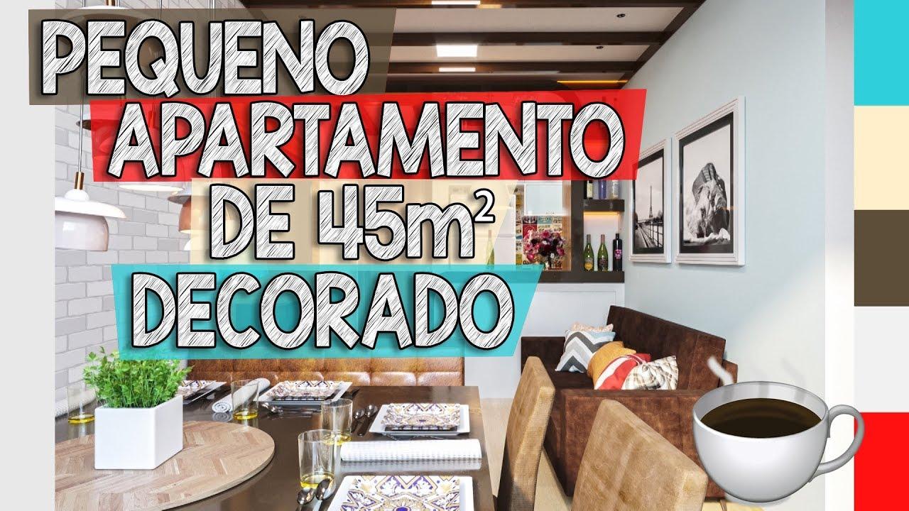 Apartamento pequeno de 45m2 decorado apartamento for Diseno de apartamentos de 45m2