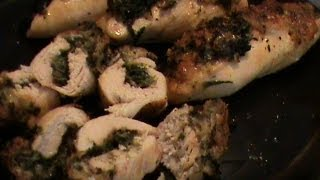 Cheese And Spinach Stuffed Chicken Breast