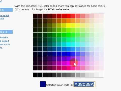 HTML Color Codes - YouTube