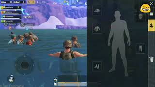Funny movement in pubg mobiles     the circle ends 😂