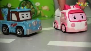 Мультики для детей с игрушками.Новые приключения  Робокар Поли и Щенячий Патруля